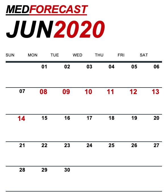 Medical News Forecast for June 8-14