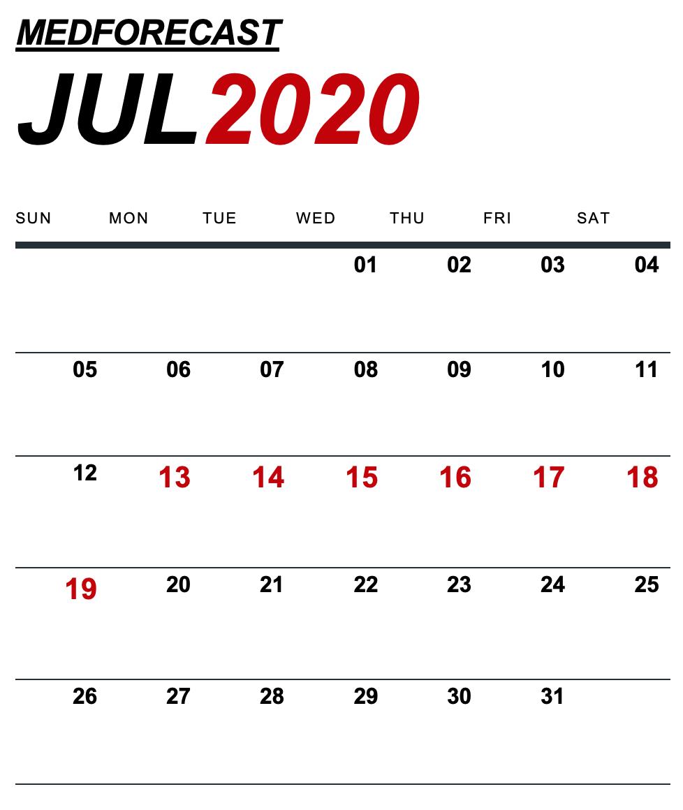 Medical News Forecast for July 13-19