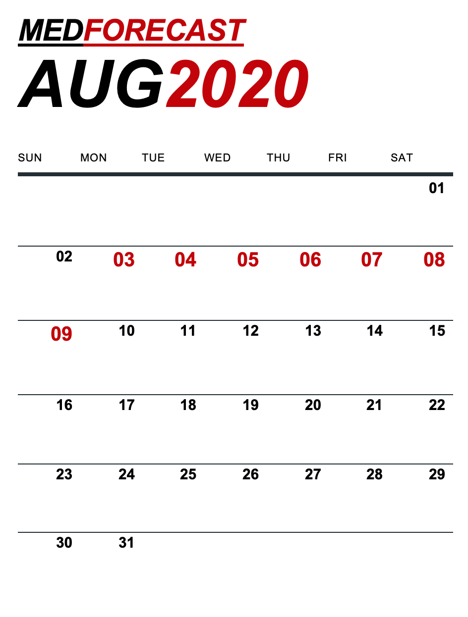Medical News Forecast for August 3-9