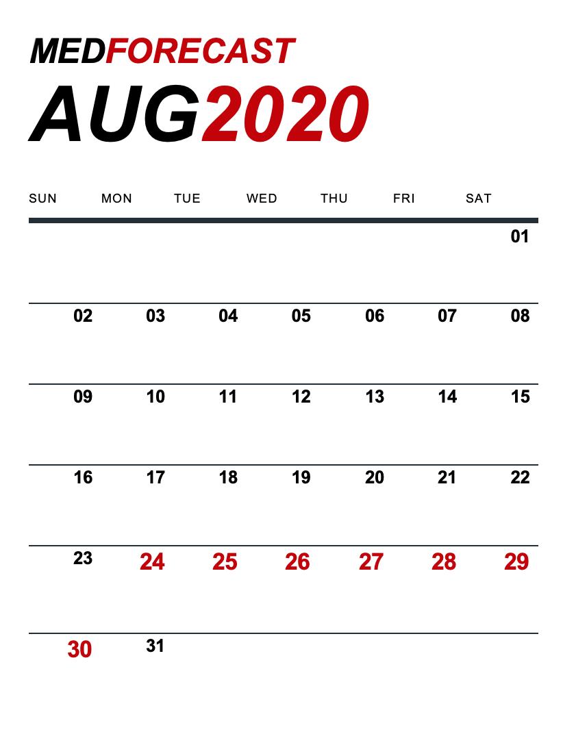 Medical News Forecast for August 24-30