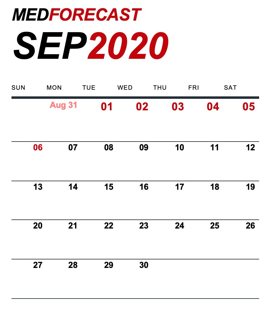 Medical News Forecast for August 31-September 6