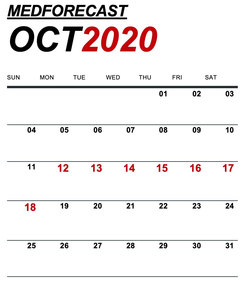 Medical News Forecast for October 12-18
