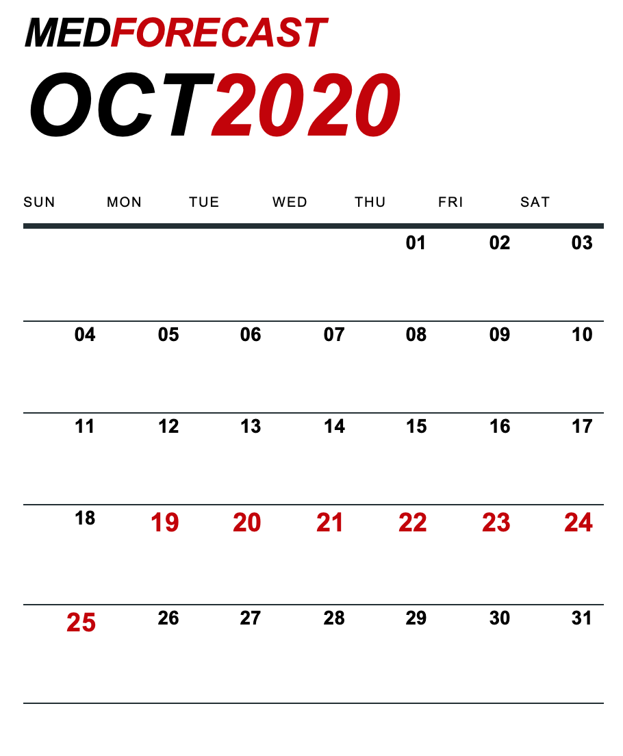 Medical News Forecast for October 19-25