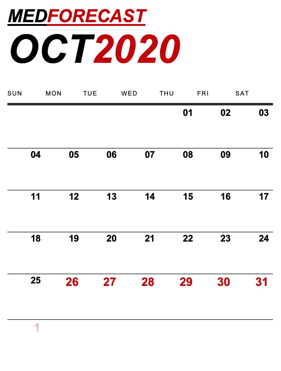Medical News Forecast for October 26-November 1