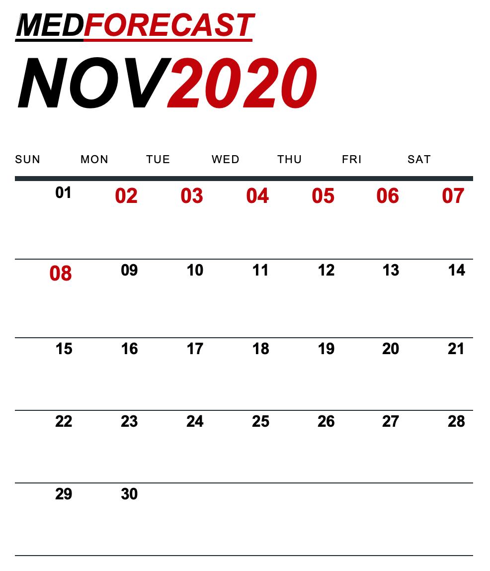 Medical News Forecast for November 2-8