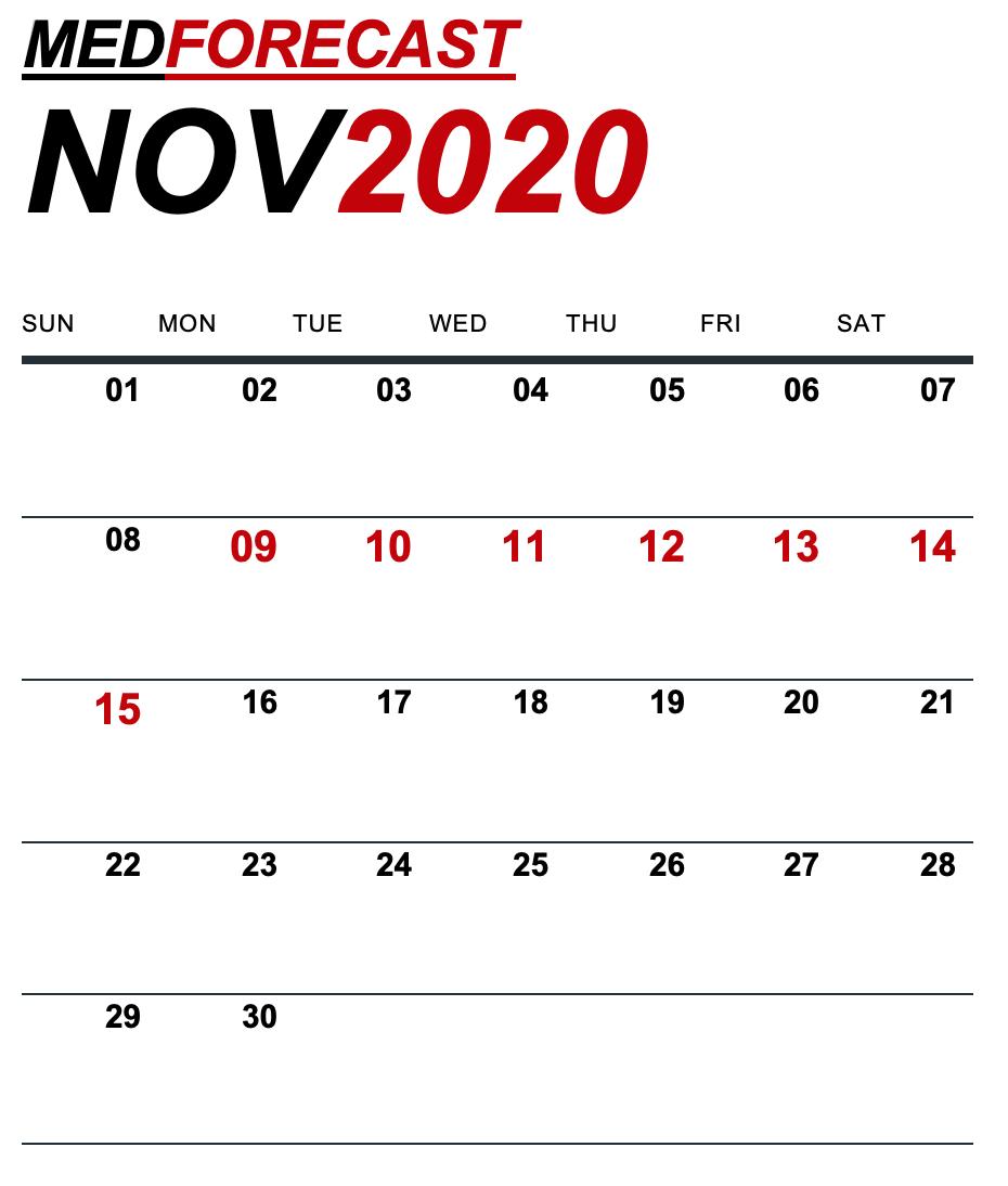 Medical News Forecast for November 9-15