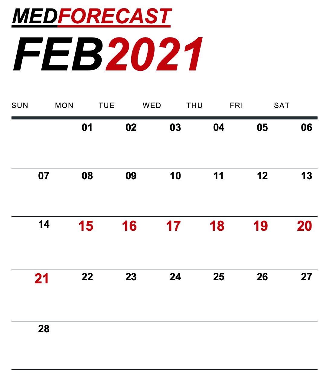 医疗新闻预测2月15日至21日