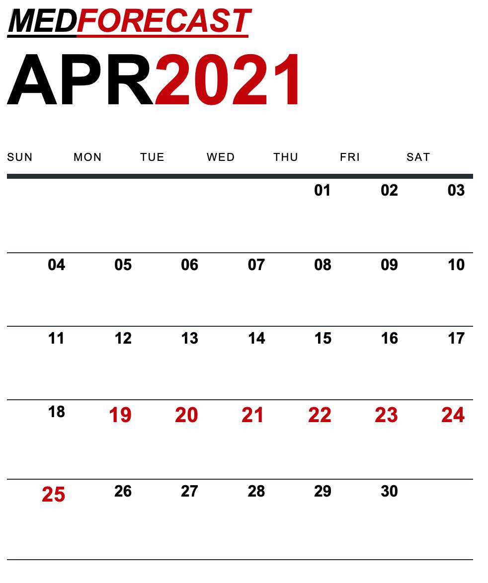 Medical News Forecast for April 19-25